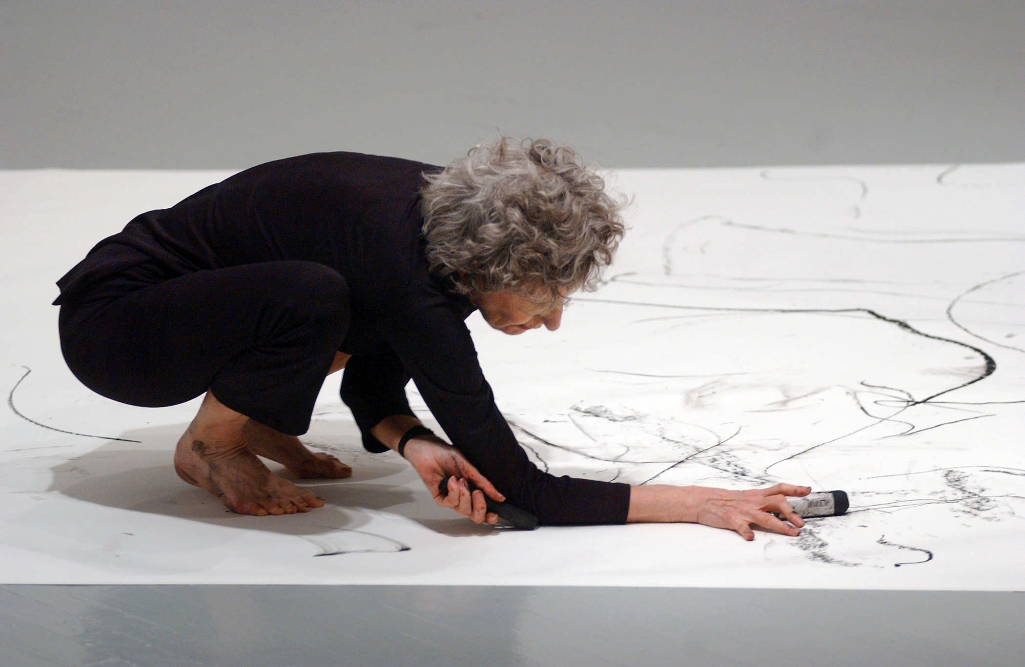 Dennis Oppenheim Two Stage Transfer Drawing Trisha Brown It's a Draw